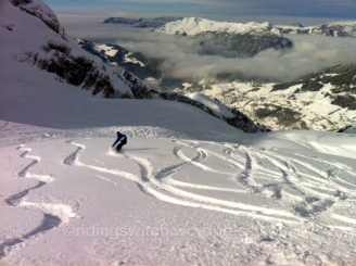 Fresh tracks, La Clusaz